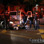Delivery Worker Injured in Collision with Police Car