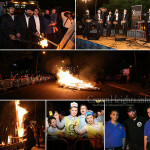 Photos: Hundreds at Lag BaOmer Bonfire