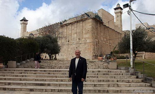 Clemmons in Hebron, Israel.