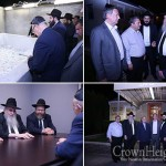 Delegation of Romanian Jewish Leaders Pray at the Ohel