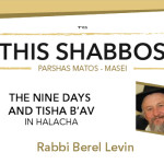 Shabbos at the Besht: The Nine Days and Tisha B'av in Halacha