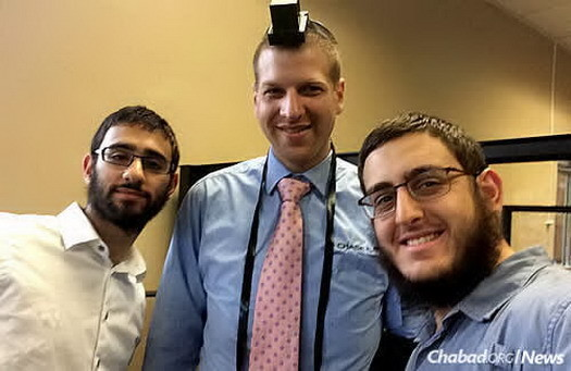 Dovid Lew, right, with his friend Menachem Rosenthal, left, and a banker named Aaron; they visited him each Friday in Lake Worth, Fla.