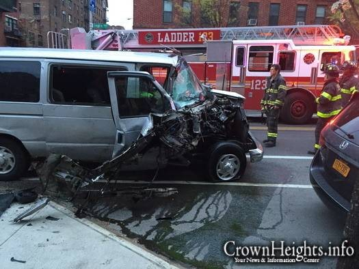 File photo: The scene of a previous dollar van crash that occurred in April.