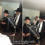 Picture of the Day: Rebbe's Mazkir Visits R' Yitzi Hurwitz