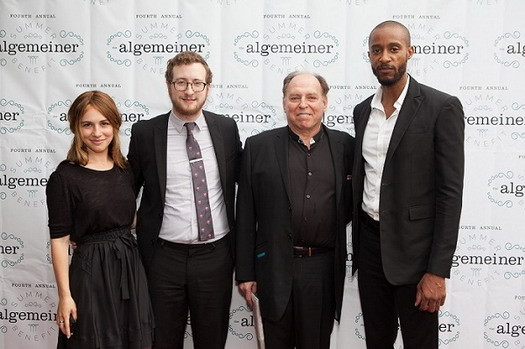 From left: Mushka Efune, Dovid Efune, Marty Peretz and Miguel Wright. Photo: Sarah Rogers.