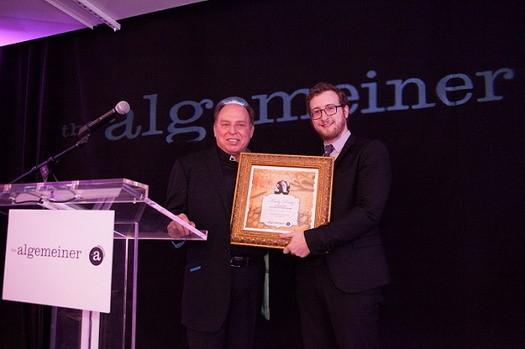 Marty Peretz accepts his award. Photo: Sarah Rogers.