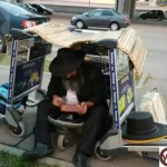 Picture of the Day: Improvised Airport Sukkah