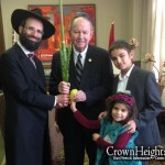 Picture of the Day: Oldest Jewish MP Shakes the Lulav