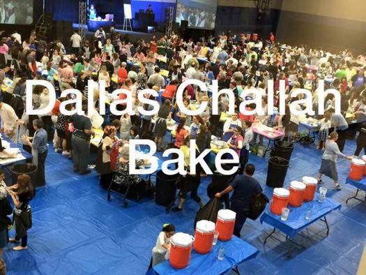 Mega Challah Bake in Dallas, Texas