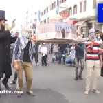 Video: Arabs 'Execute' Fake Jews at Morocco Demonstration