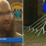 Vandals Damage Menorah at Montreal Chabad House