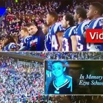 Patriots Hold Moment of Silence for Jewish Terror Victim