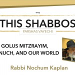 Shabbos at the Besht: Golus Mitzrayim, Chinuch, and our world