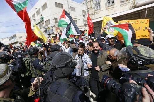 File photo: Palestinian demonstration