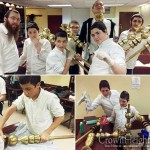 Darchai Menachem Students Assemble 770 Menorah