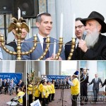 LA's Jewish Mayor Lights Menorah at City Hall