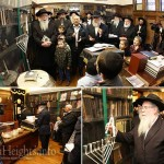 Photos: First Candle Lit in the Rebbe's Room