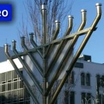 Giant Menorah Lit in Center of Springfield