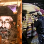 Graffiti Artists Paint R' Shlomo Lakein in Israeli Shuk