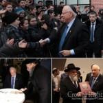 Israeli President Tours 'Schneersohn Library'