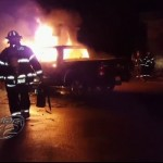 Truck Bursts into Flames in Chabad House Parking Lot