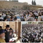 Tens of Thousands at the Kotel for Birchas Kohanim