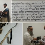 Visiting Sofrim Check Panama Jews' Tefilin and Mezuzos