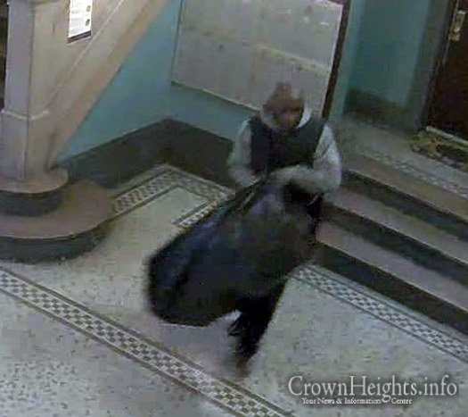 The suspect captured on camera inside 1324 Carroll Street on 4/12/16 stealing packages throughout the building.