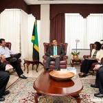 Ahead of Pesach, Jamaican PM meets Local Shliach