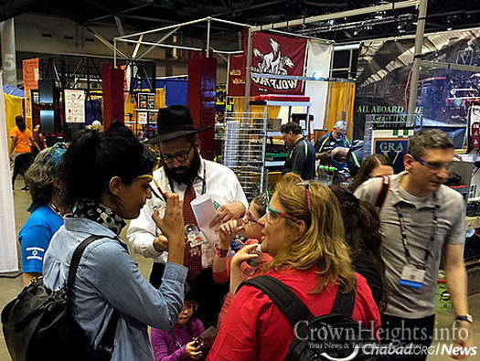 Rabbi Hershey Novack, director of the Chabad House at Washington University in St. Louis, observed some of the competition and organized a meal for 350 people at the America's Center Convention Complex downtown.