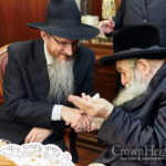 Rebbe of Chernobyl Visits Chief Rabbi of Russia