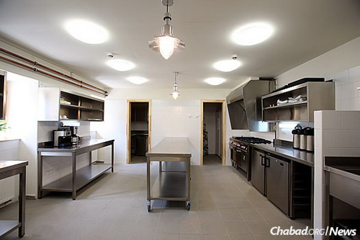 A commercial kosher kitchen is one of many striking amenities.