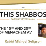 Shabbos at the Besht: Tu B'Av and Chof Av