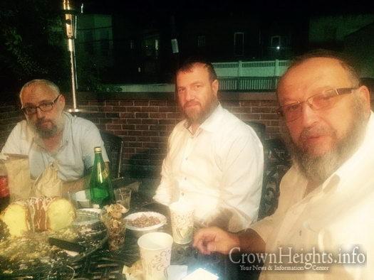 Rabbis Avremel Lokshin, Menachem Gurevitch and Shneur Minsky.