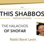 Shabbos at the Besht: The Halachos of Shofar