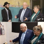 Israeli President Lights Memorial Candle in Mumbai Chabad House