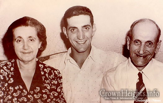 Ralph Branca, the third youngest in a family of 17 children, with his parents, Katherine (Kati) and John Branca.