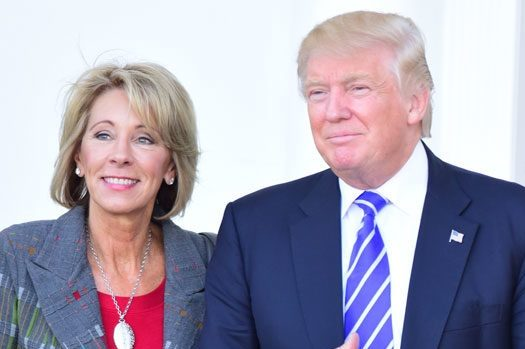 Donald Trump with Betsy DeVos