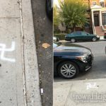 Swastikas Scrawled on Crown Heights Sidewalk