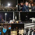 NYC Mayor Lights Menorah at Grand Army Plaza