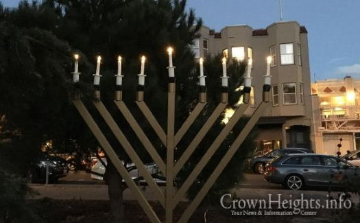 6-foot tall, 150 lb. menorah stolen from Washington Square in San Francisco's North Beach.