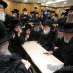 Chabad Delegation is Menachem Avel Belzer Rebbe