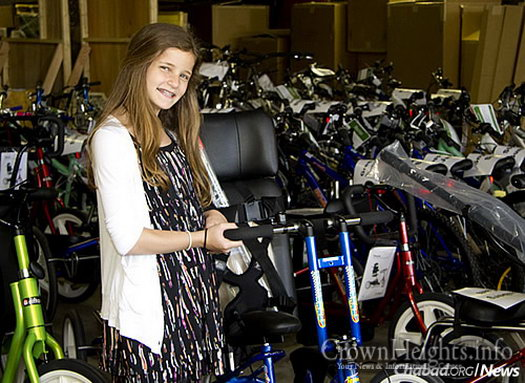 For her bat mitzvah project, Olivia Lefkovits of New Jersey raised more than $80,000 so that 100 children with special needs could receive one of a number of adaptive bikes.