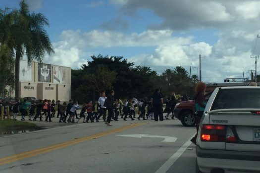 Emergency evacuation underway at Alper JCC Jewish Day School in Miami.