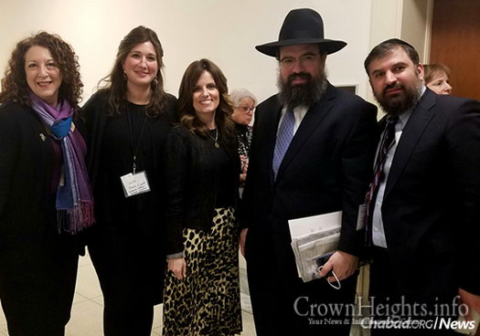 At the day's proceedings in Washington, from left: RCII Inclusion Specialist Shelly Christensen, Kranz-Ciment, Nechama Shemtov of American Friends of Lubavitch (Chabad), Rabbi Levi Shemtov and RCII advisory member Yossi Kahana.