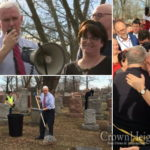 VP Makes Unannounced Stop at Vandalized Cemetery