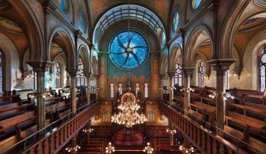 The interior of the Eldridge Street Synagogue