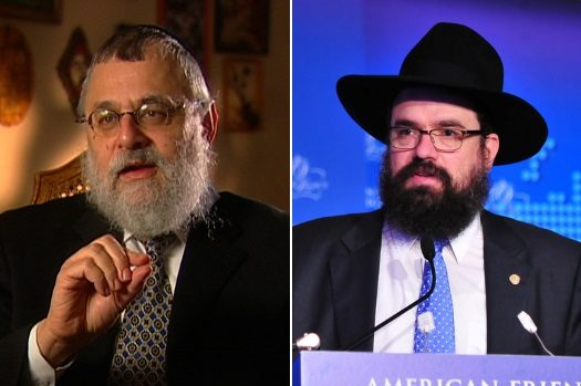 Left: Rabbi Shmuel Kaplan. Right: Rabbi Levi Shemtov.