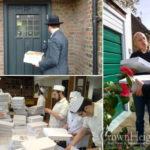 London Yeshiva Brings Matzah Door to Door