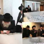 Photos: Makava Rebbe Visits Lubavitcher Rebbe's Ohel